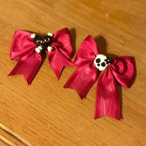 Heart and skull hair clips barrettes